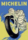 Michelin Tyres Vintage Advert Poster Motorcycle  T-Shirt. 12 Sizes. Classic Bike Motorbike